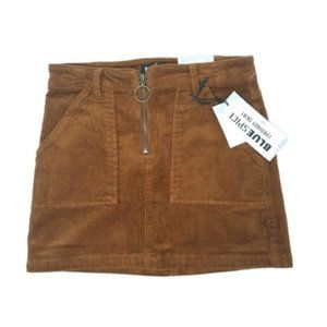 BLUESPICE Corduroy Mini Skirt NEW